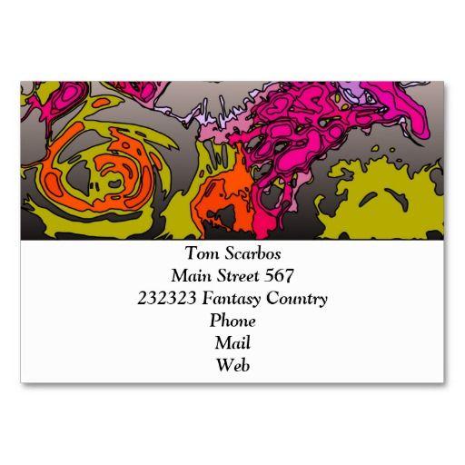 Surreal Flowers Orange Business Card Templates Event