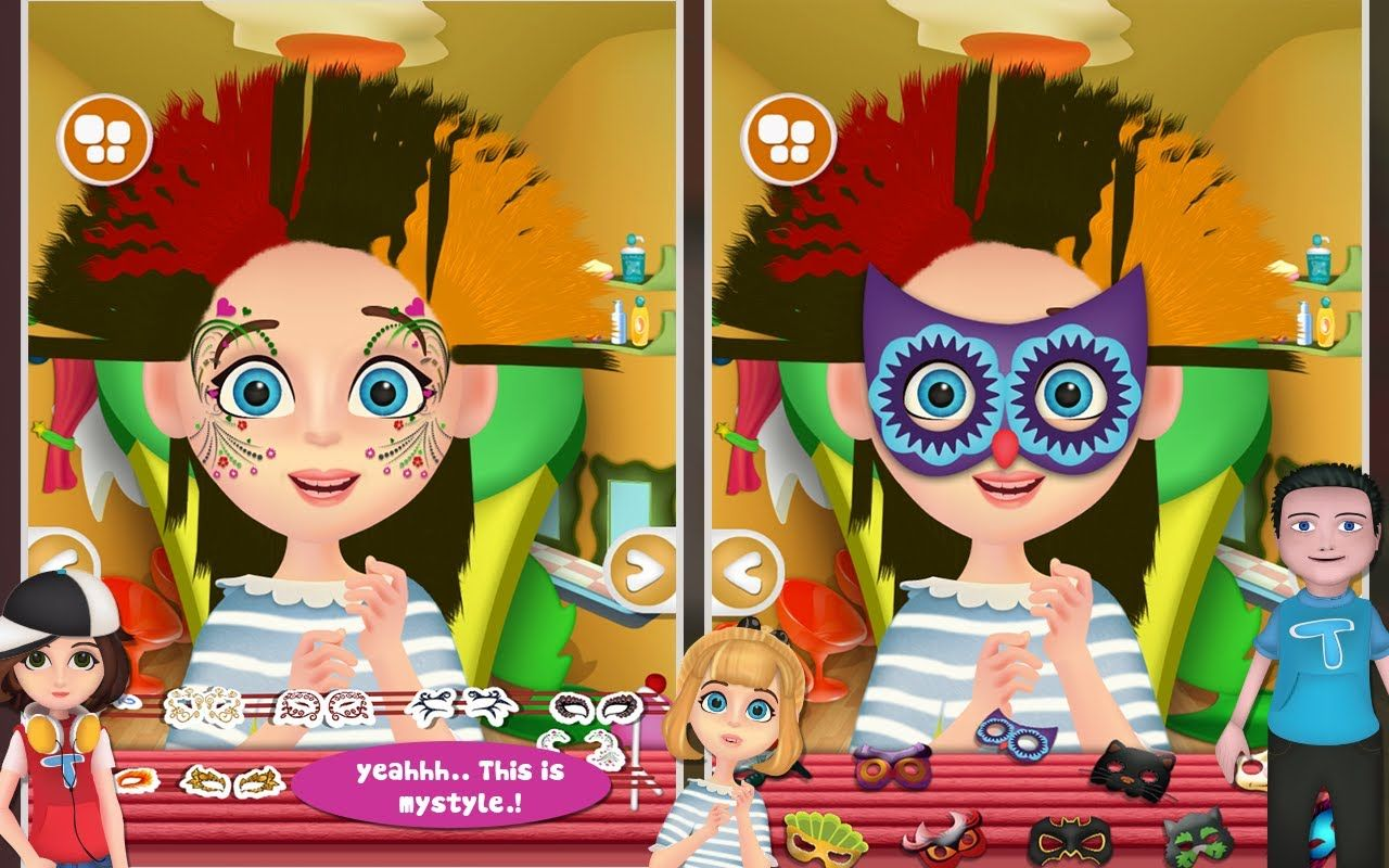 Kids hair salon free android game for kids gameplay