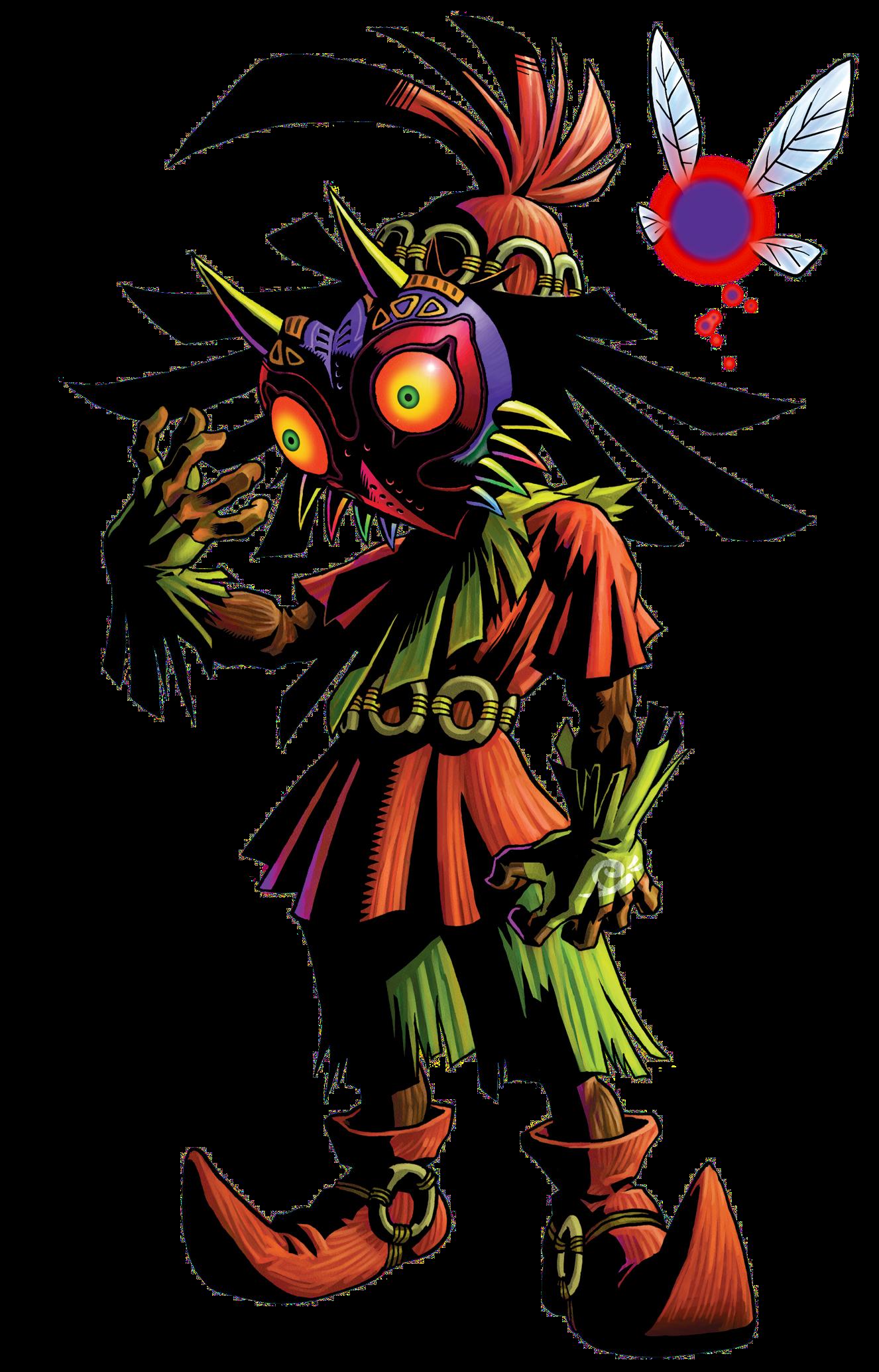 File Skull Kid Png Illustratie Character Tatoeage Ideeen