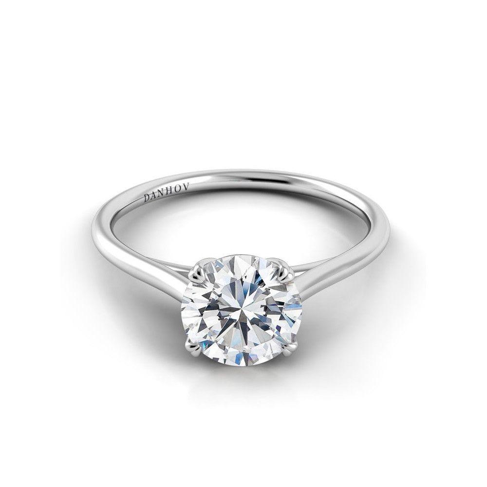 Danhov Clico Double G Diamond Engagement Ring