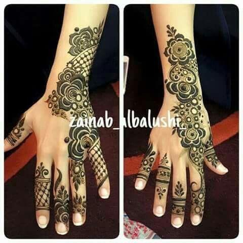 نقوش حناء رررررائعة جدا نقوش ناعمة متوسطة و فخمة على اليدين و القدمين Henna Hand Tattoo Hand Henna Hand Tattoos