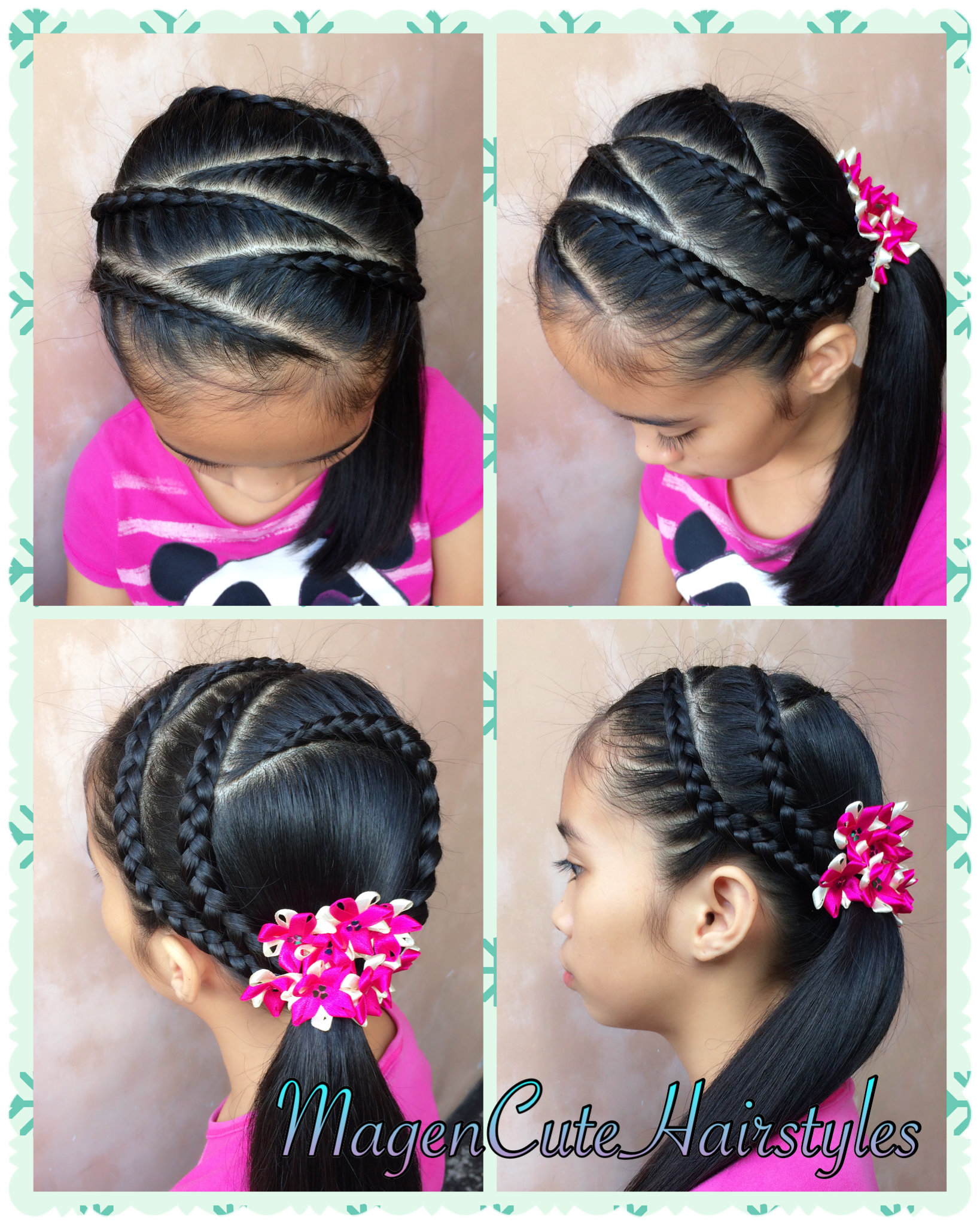 dutch lace braid zigzag style | hair | braided hairstyles