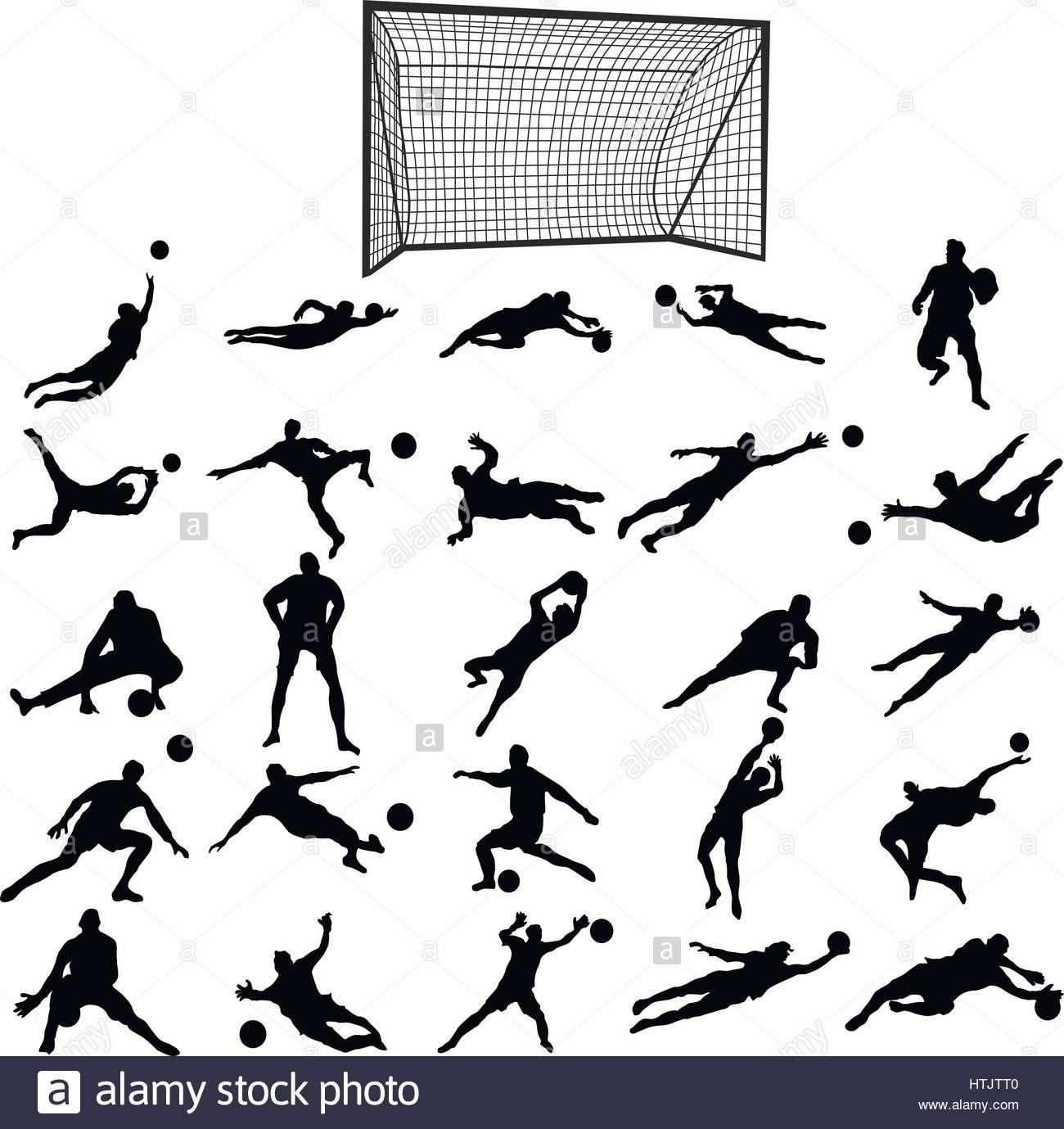Soccer Goalkeeper Silhouette Set Stock Vector Art Soccer Tattoos Goalkeeper Football Tattoo