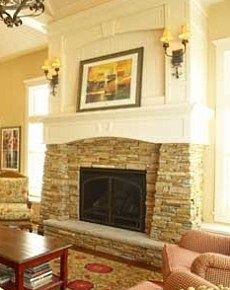 This Is A Really Cool Idea  Use The Stacked Stone To Build Out The Hearth.  Fireplace ...