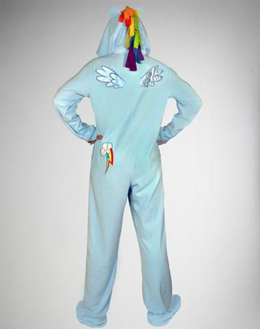 My little Pony Rainbow Dash Footed Hooded Adult Pajamas  61c01cf6d