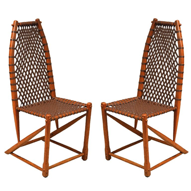 ... Cardiff Tufted Upholstered Chair 69% Off. Pair Of Wagon Wheel Side  Chairs By Wharton Esherick