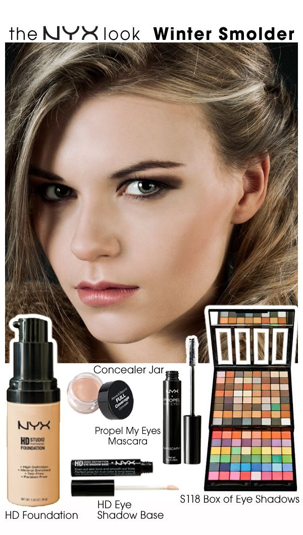 NYX Winter Smolder Look Nyx cosmetics, Face makeup