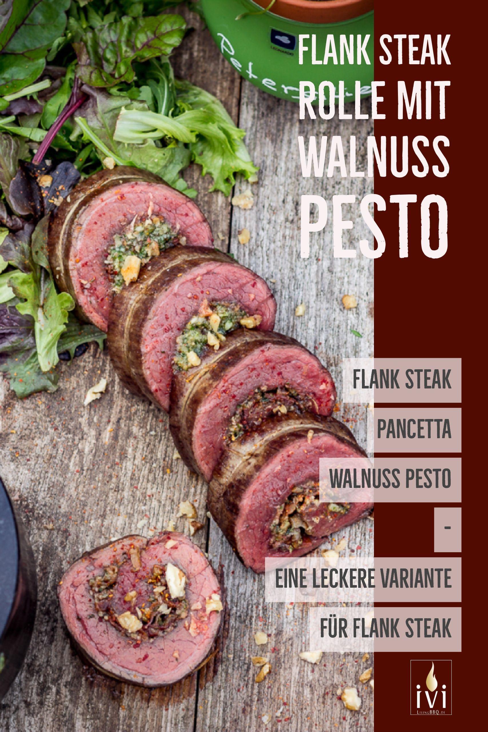 Flank Steak Rolle mit Walnuss-Pesto und Pancetta | LivingBBQ.de