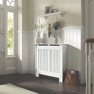 Contemporary Kensington Radiator Cabinet Medium White 1195 X 200 X