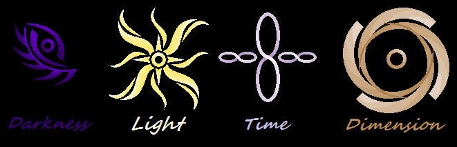 Divine Elemental Symbols by https://www.deviantart.com ...