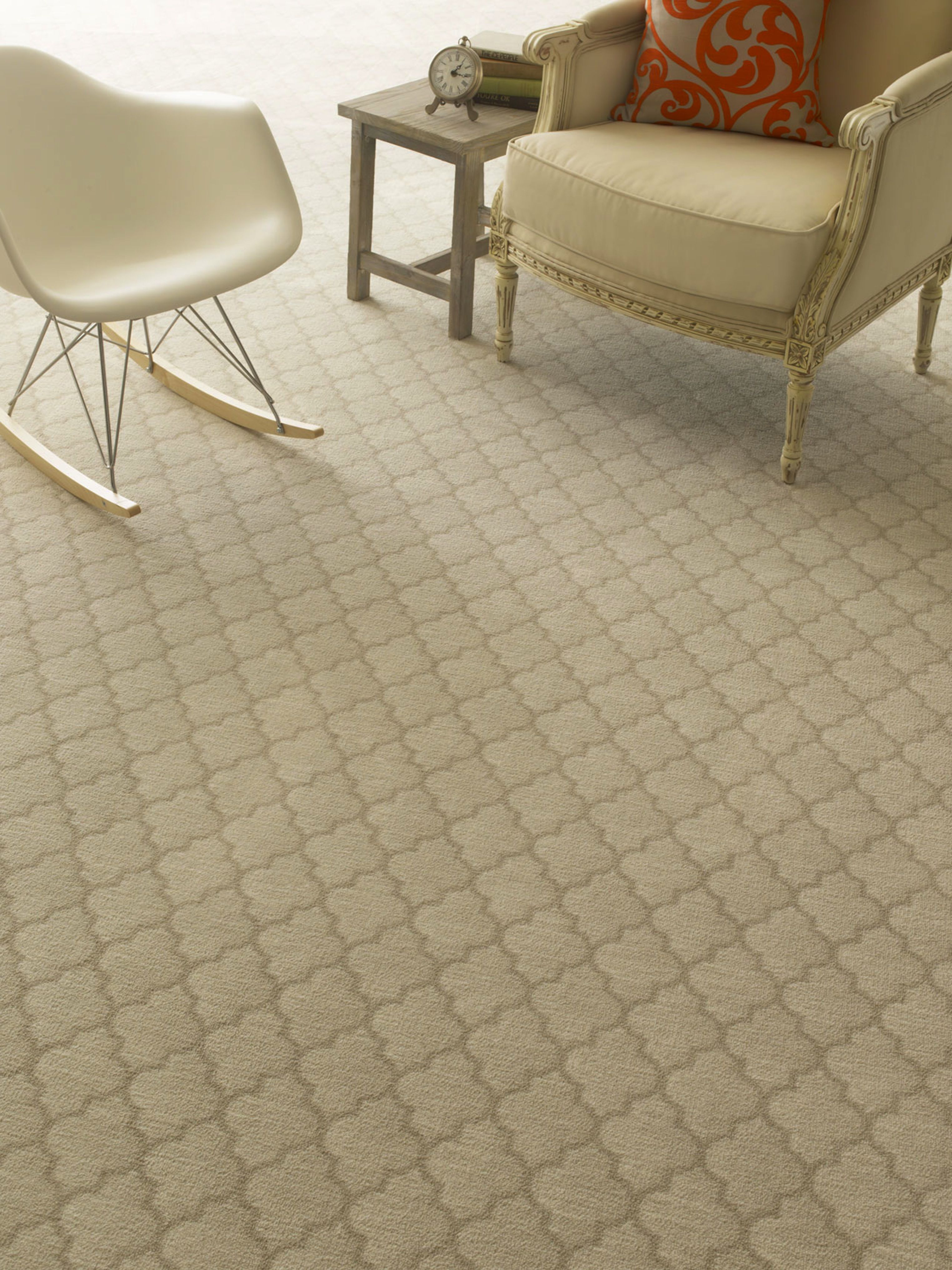 Cavetto, from Milliken's Imagine collection, features an ogee ...