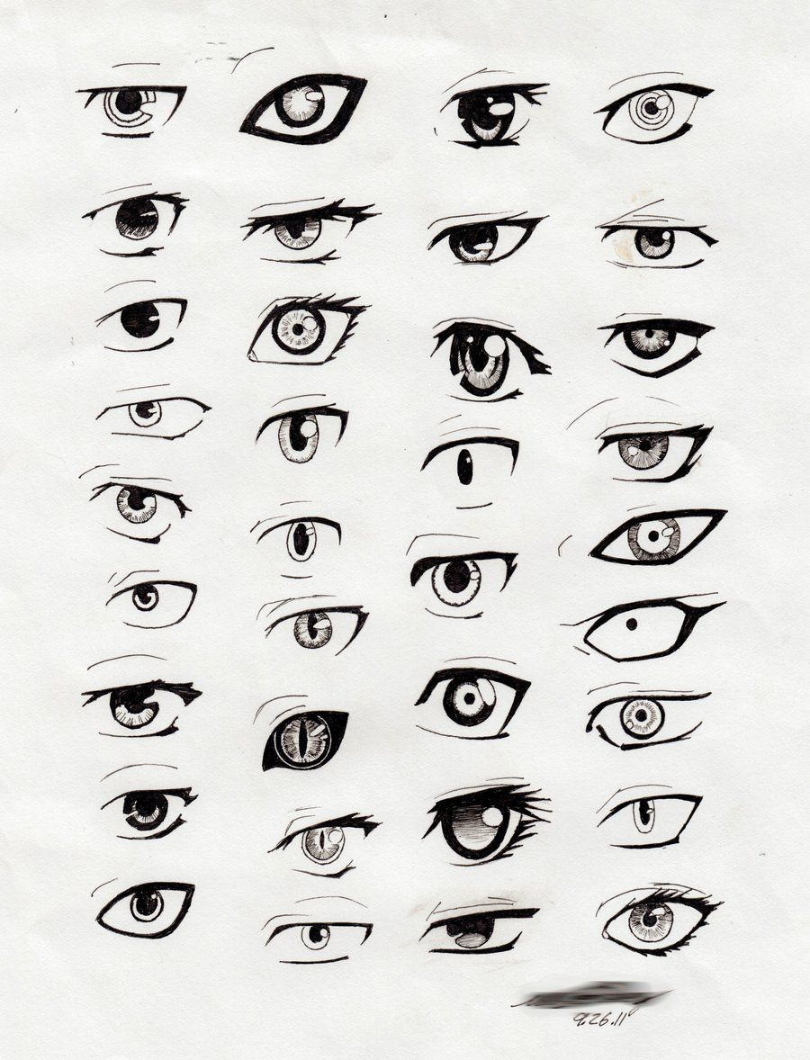 Anime Eyes Drawing Widescreen 2 HD Wallpapers Art Ref
