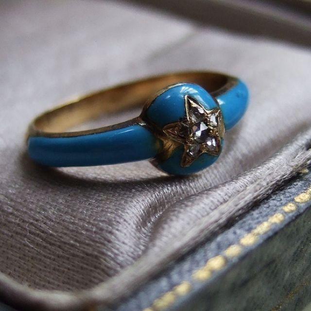 French Victorian Enamel Ring