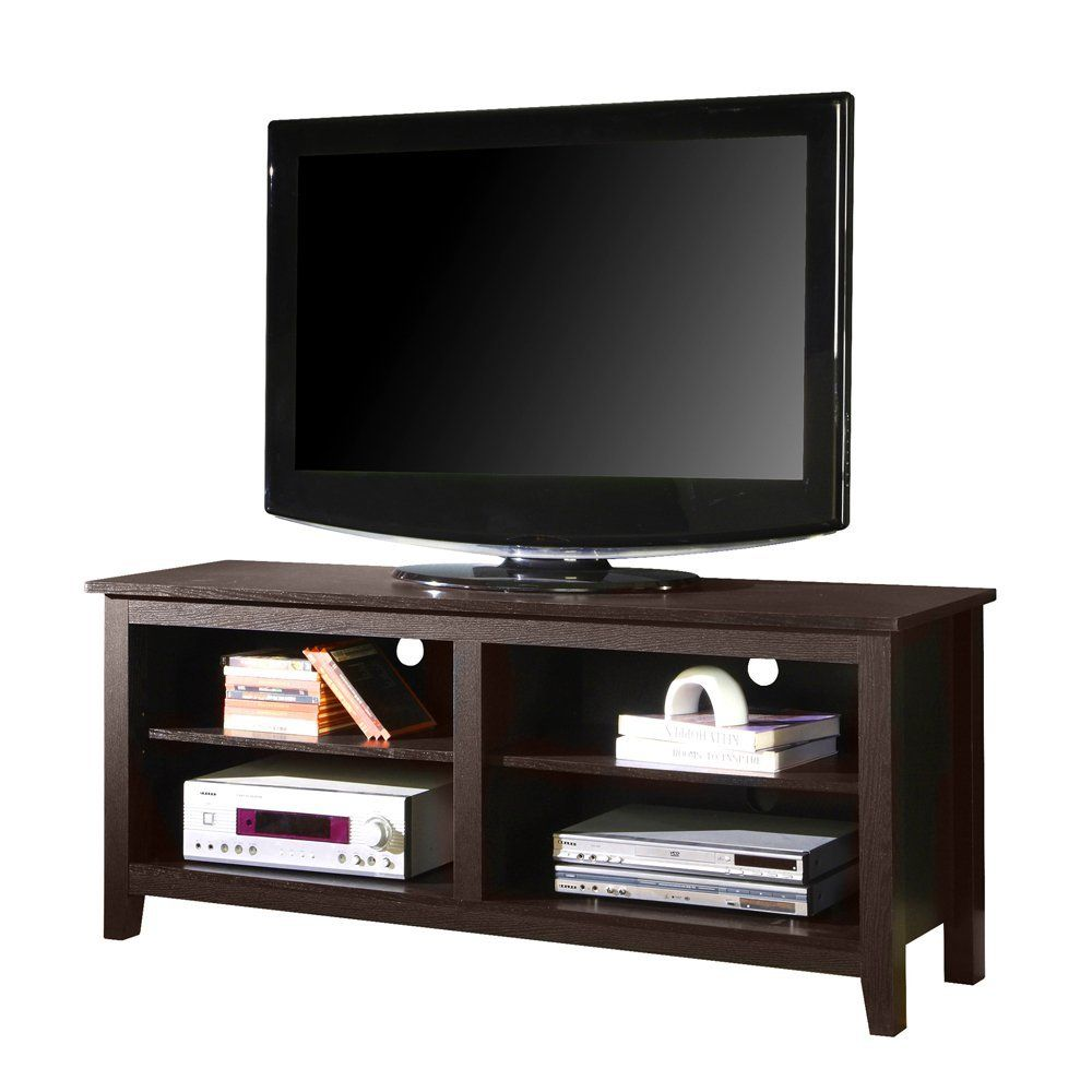 Kitchen Television Amazoncom We Furniture Wood Tv Stand 58 Inch Espresso Home