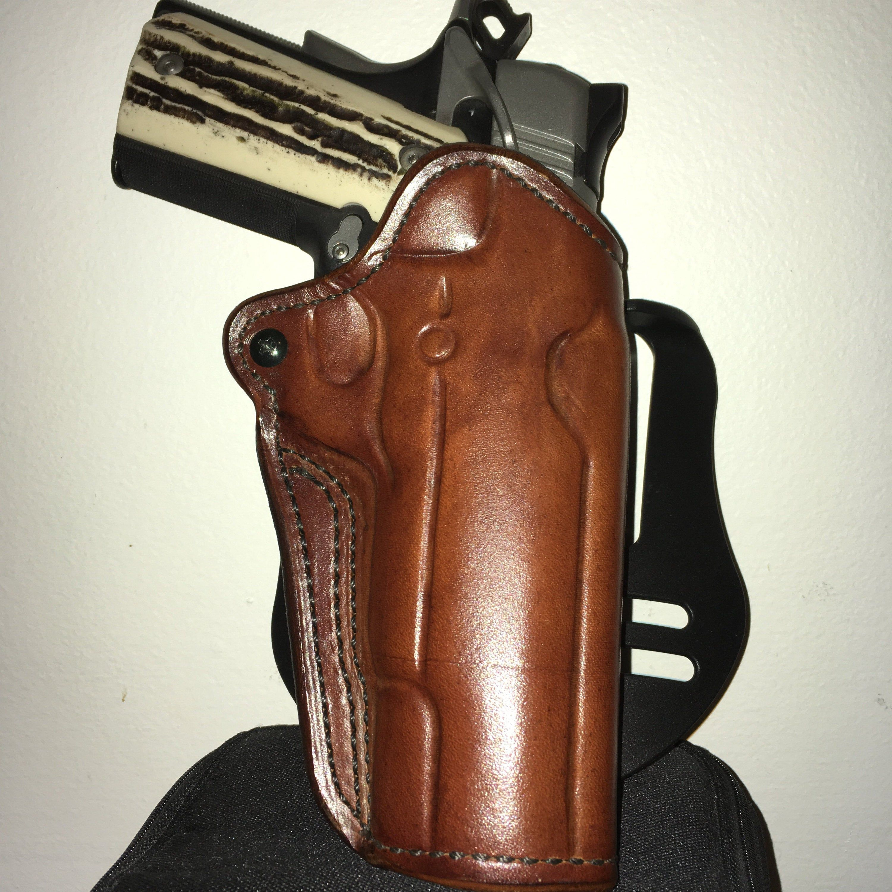 1911 Full Size OWB 5 Custom Holster 1911 Leather Etsy