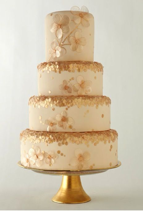 Gold and sequin cake