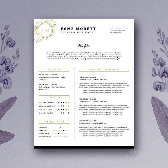 Feminine Resume Template @creativework247 Resume Templates - simple resumes templates