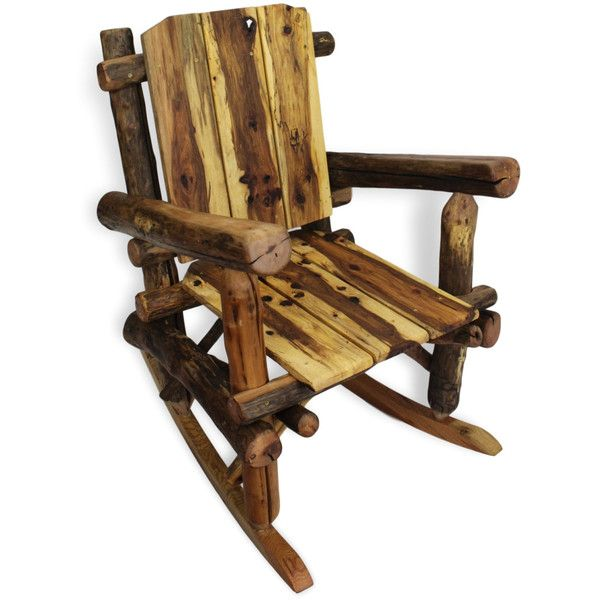 Rustic Rocking Chair, Reclaimed Wood Rocking Chair, Reclaimed Wood... ❤  Liked