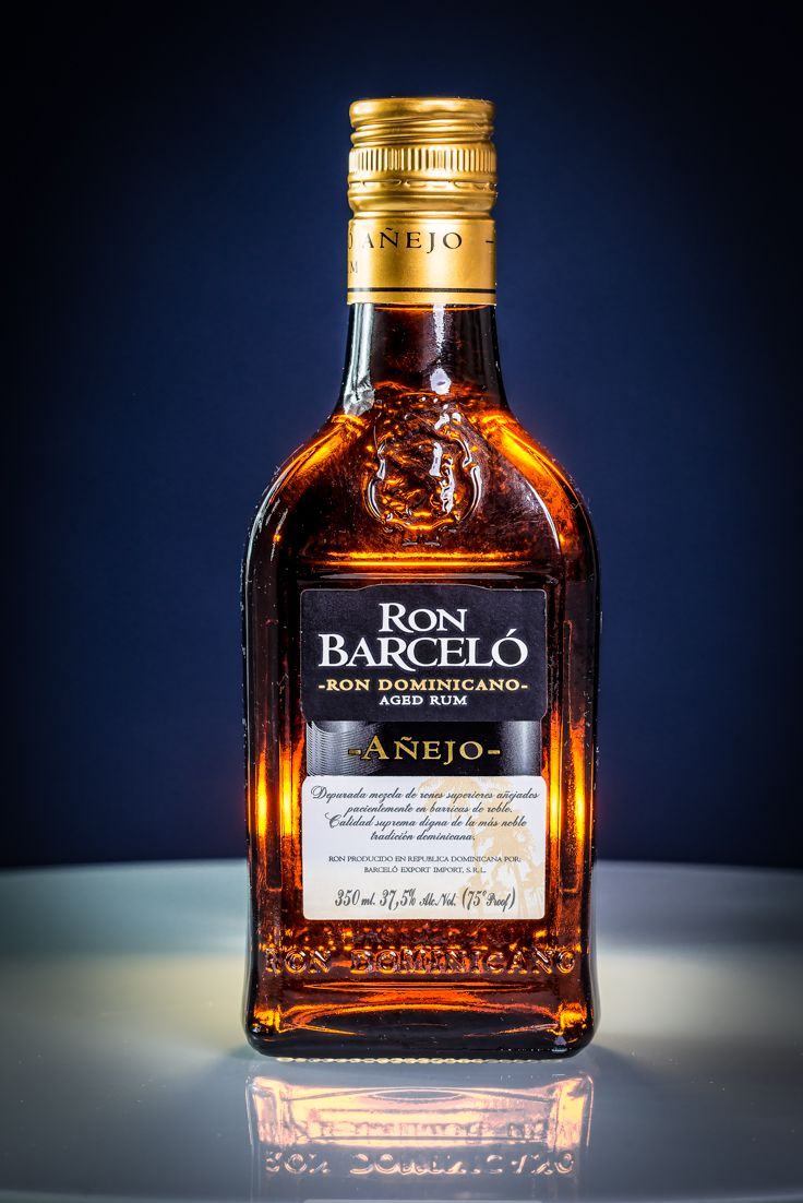 Rum Bottle Product Photography Advertising Ron Barcelo Anejo Rum
