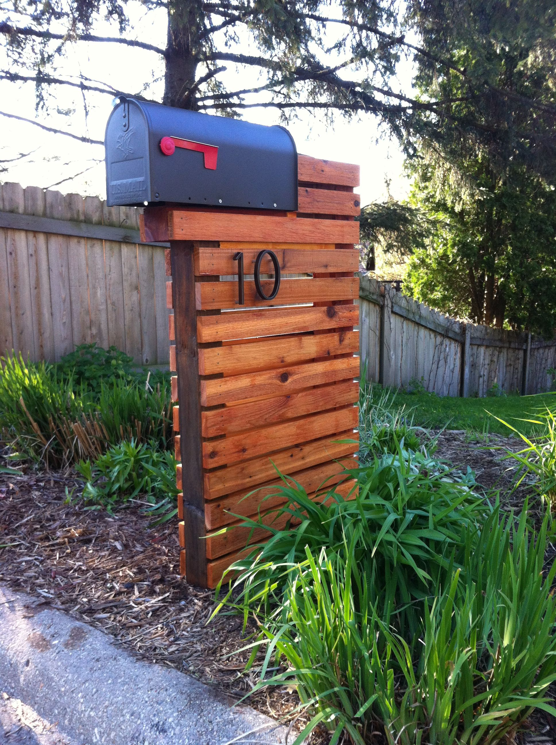 Modern mailbox for the home for Unique mailboxes with post