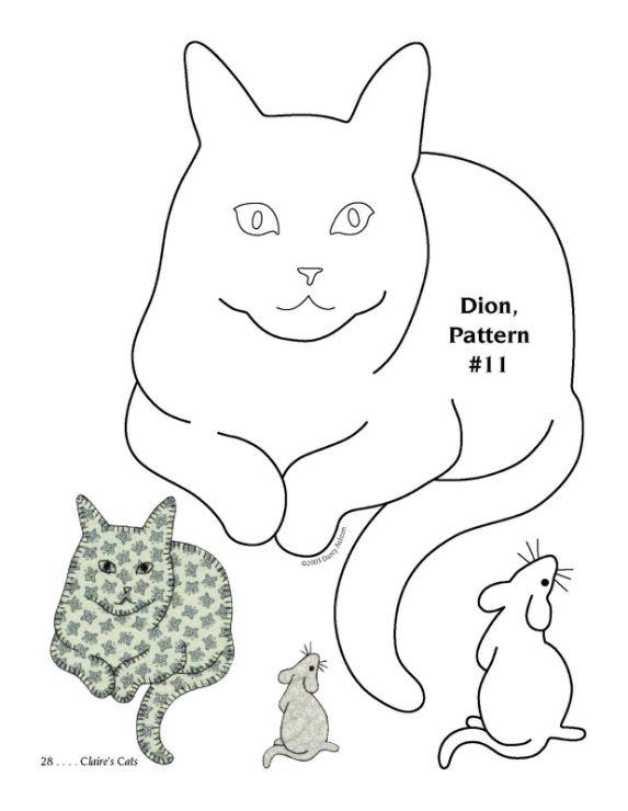 Cat Quilt 25 of 51 | PATRONES PATCHAWORK | Pinterest | Gato, Molde y ...