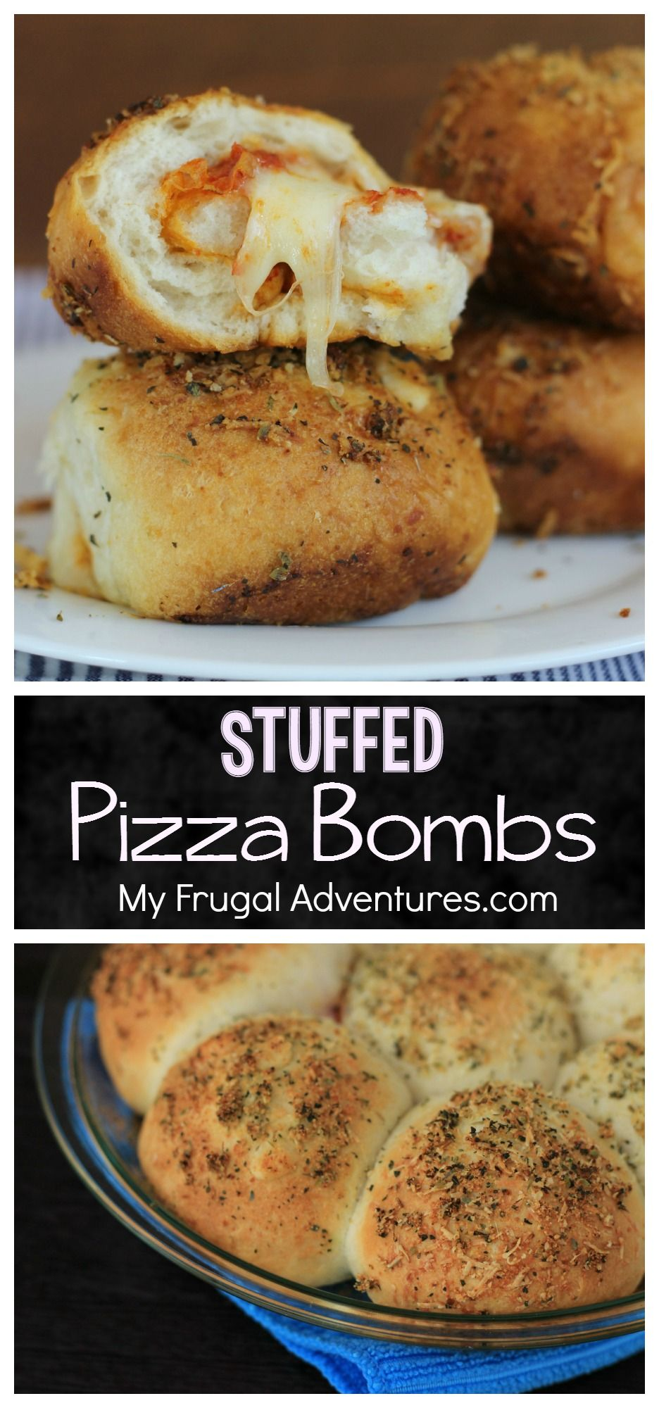 Super simple stuffed Pizza Bombs.  These are so irresistible and a guaranteed crowd pleaser! Perfect for parties or Superbowl!