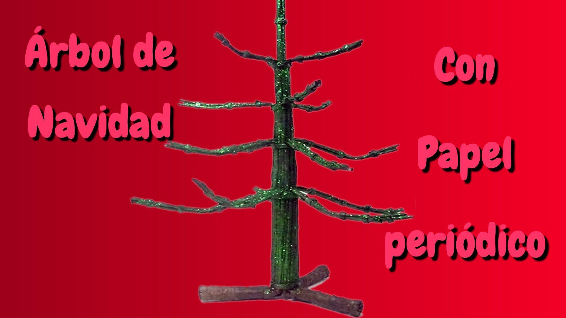 Rbol de navidad con papel peri dico navidad pinterest - Arboles de navidad de papel ...