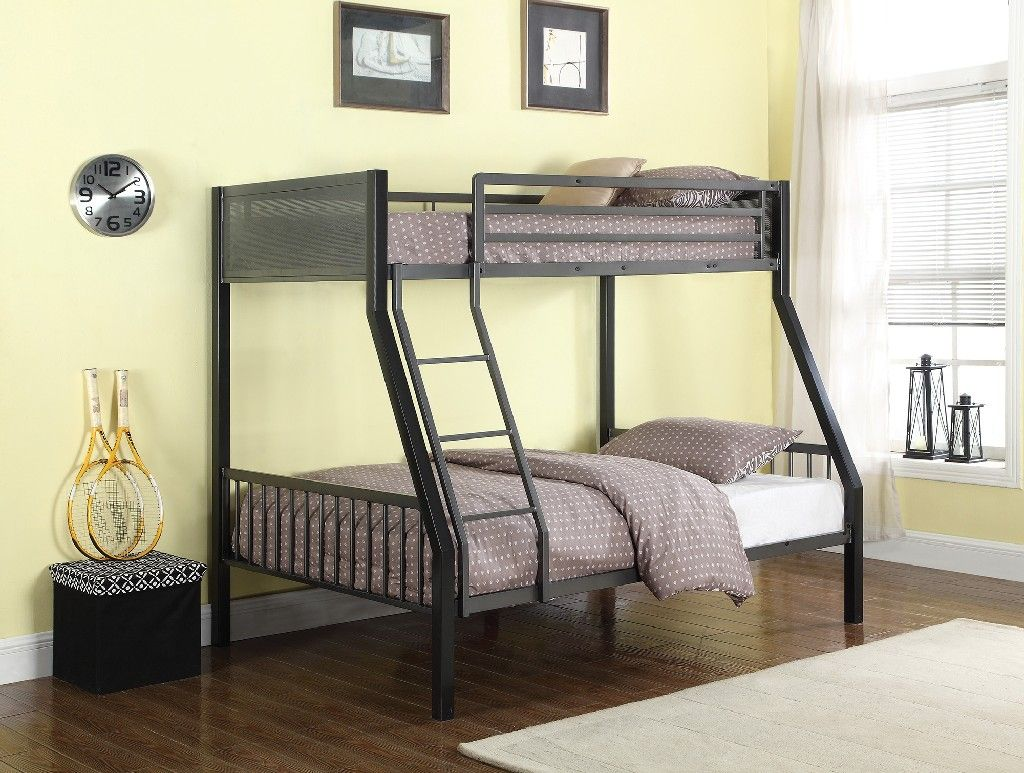 Meyers Traditional Grey TwinoverFull Bunk Bed Coaster