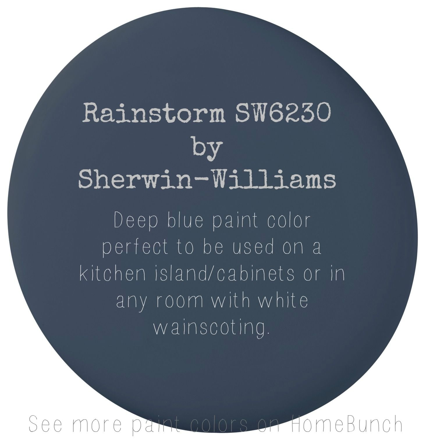 True Blue Paint Color Rainstorm Sw6230 By Sherwin Williams Deep Blue Paint Color