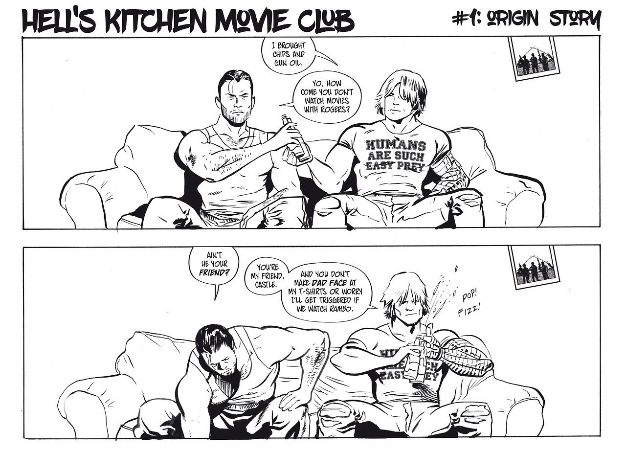 Comic about the Punisher and the Winter Soldier\'s movie night is ...