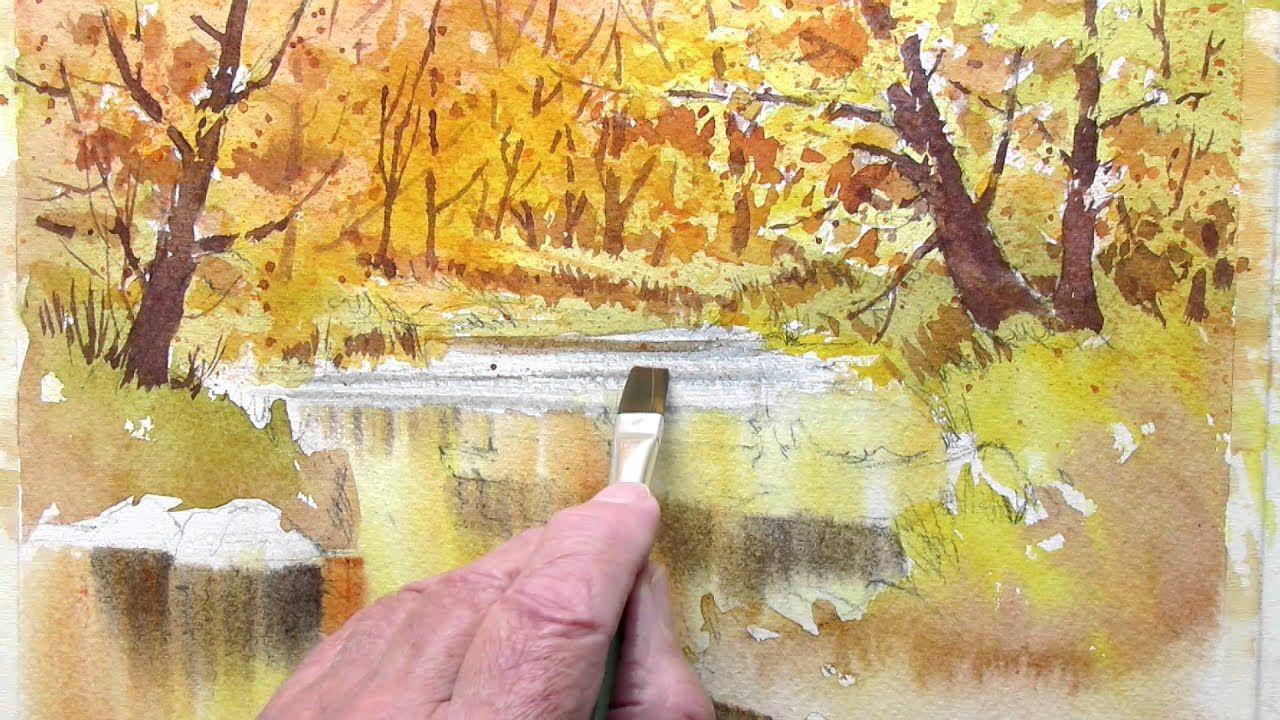 How To Paint Fall Colors Part 2 Youtube Watercolor Video