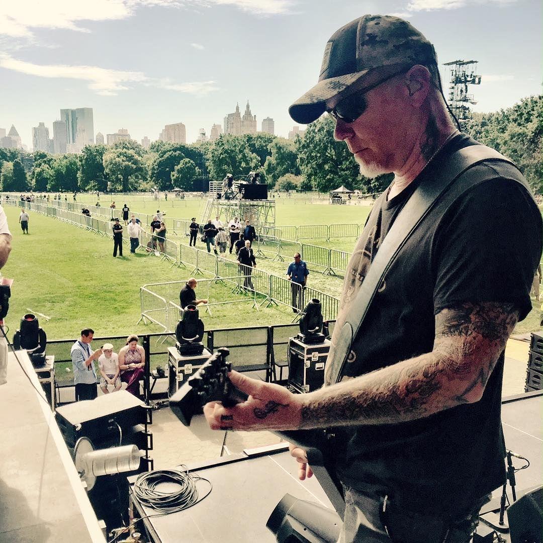 Soundcheck in Central Park #metallica #GCFestival #globalcitizen #newyork @glblctzn #MetAtGlobalCitizen