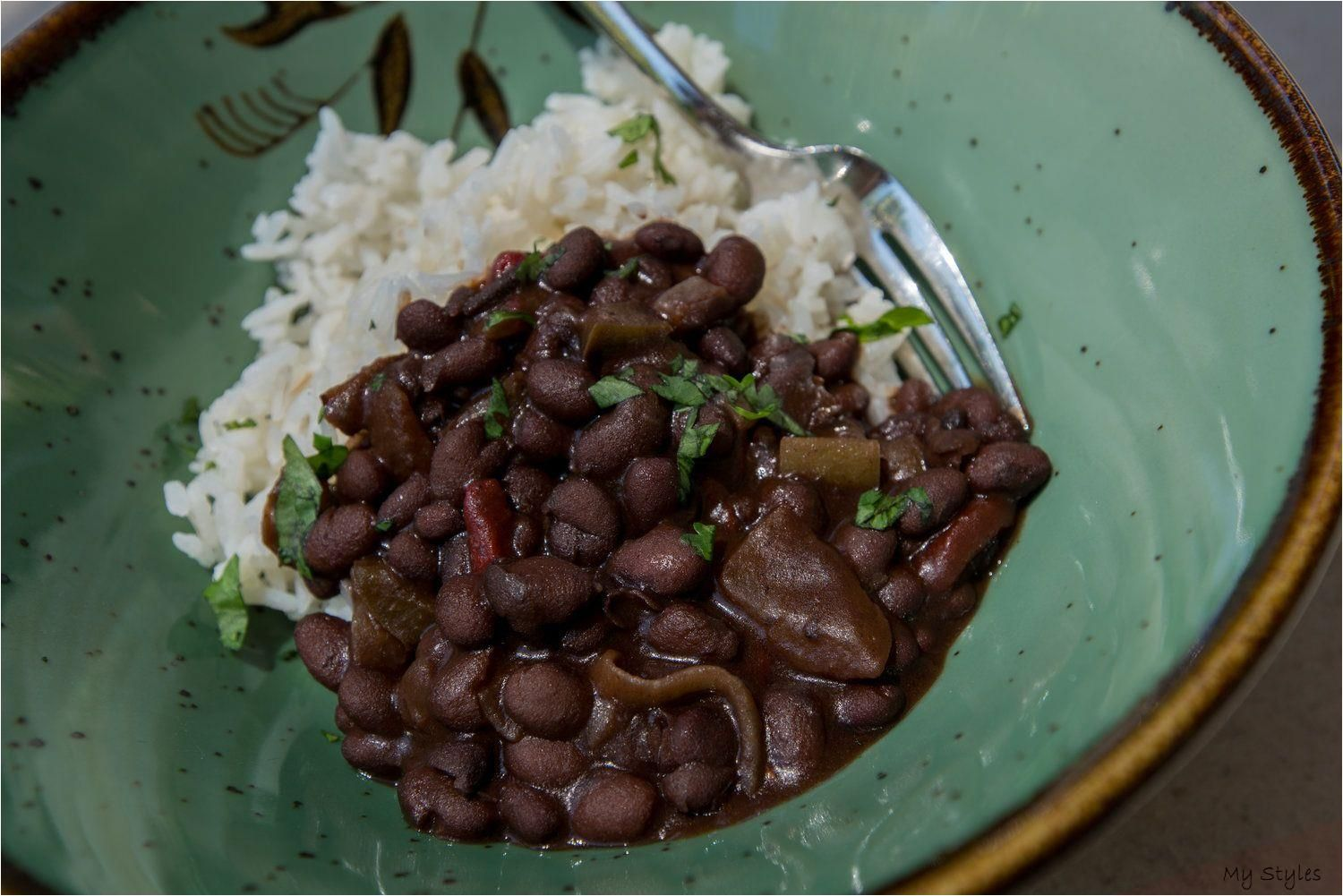 Carissa's Cuban Black Beans and Rice — SAM THE COOKING GUY #black #beans #how #to #cook #dry