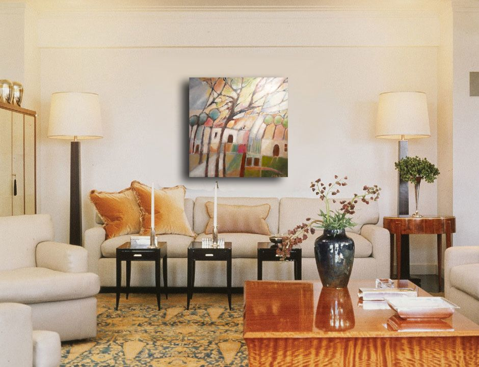 Lisa Linch Painting In A Contemporary Living Room 'Celebrate Us Enchanting Beautiful Living Rooms Traditional Painting