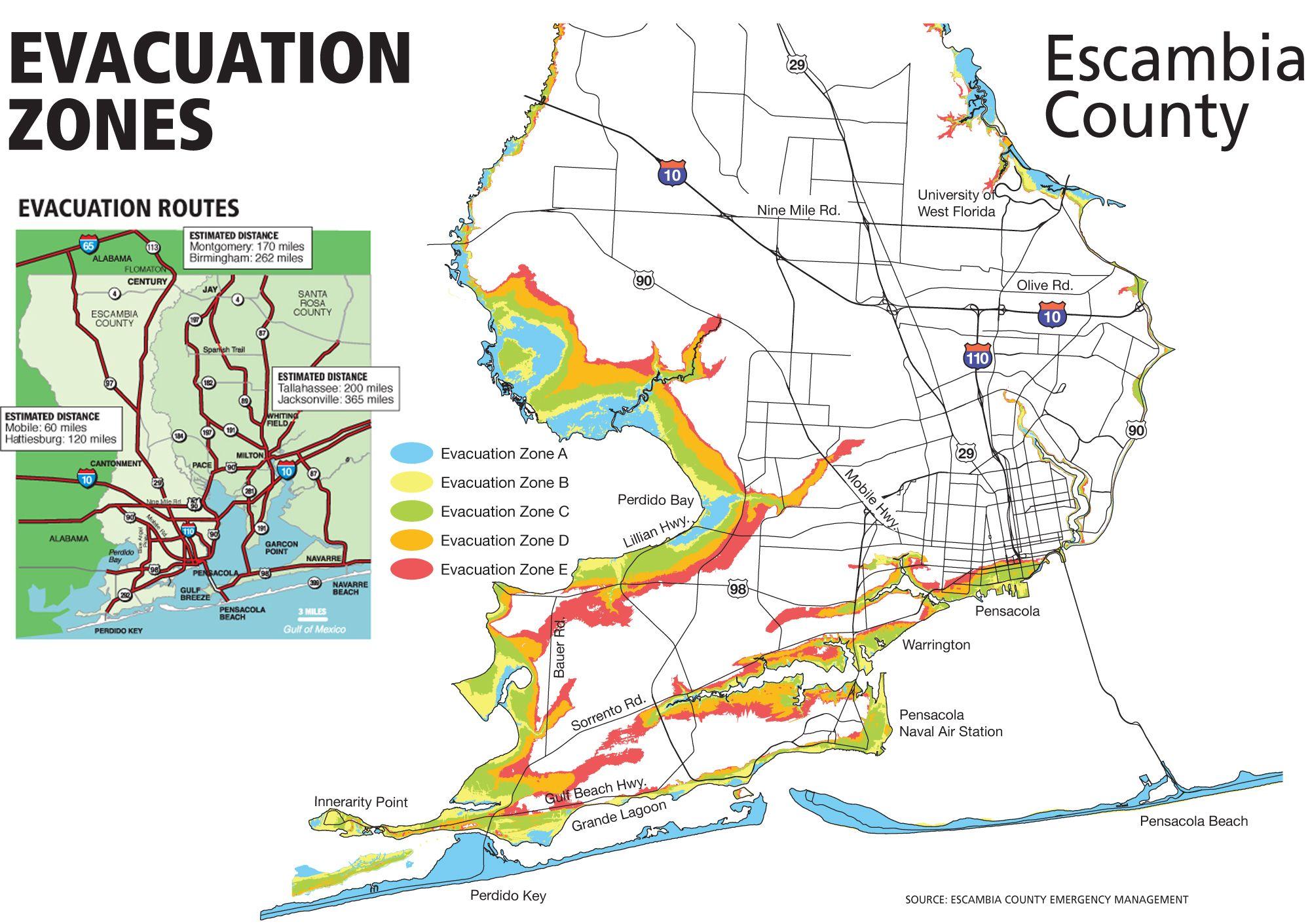 Hurricane Evacuation Zones Escambia County Pensacola News Journal Pnj Com Hurricane Evacuation Hurricane Preparedness Escambia County