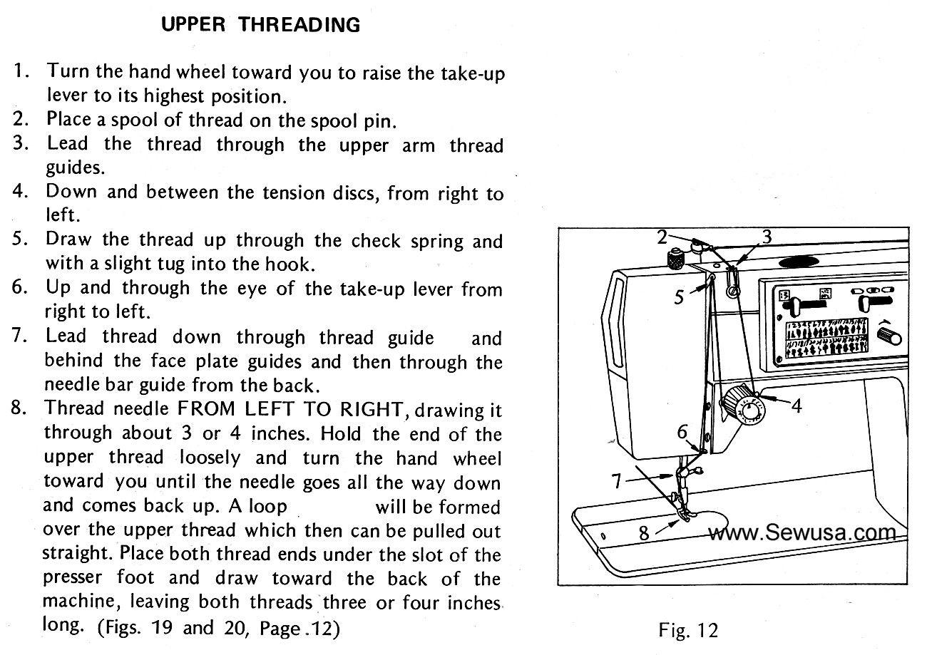Dressmaker 2402 Sewing Machine Threading Diagram
