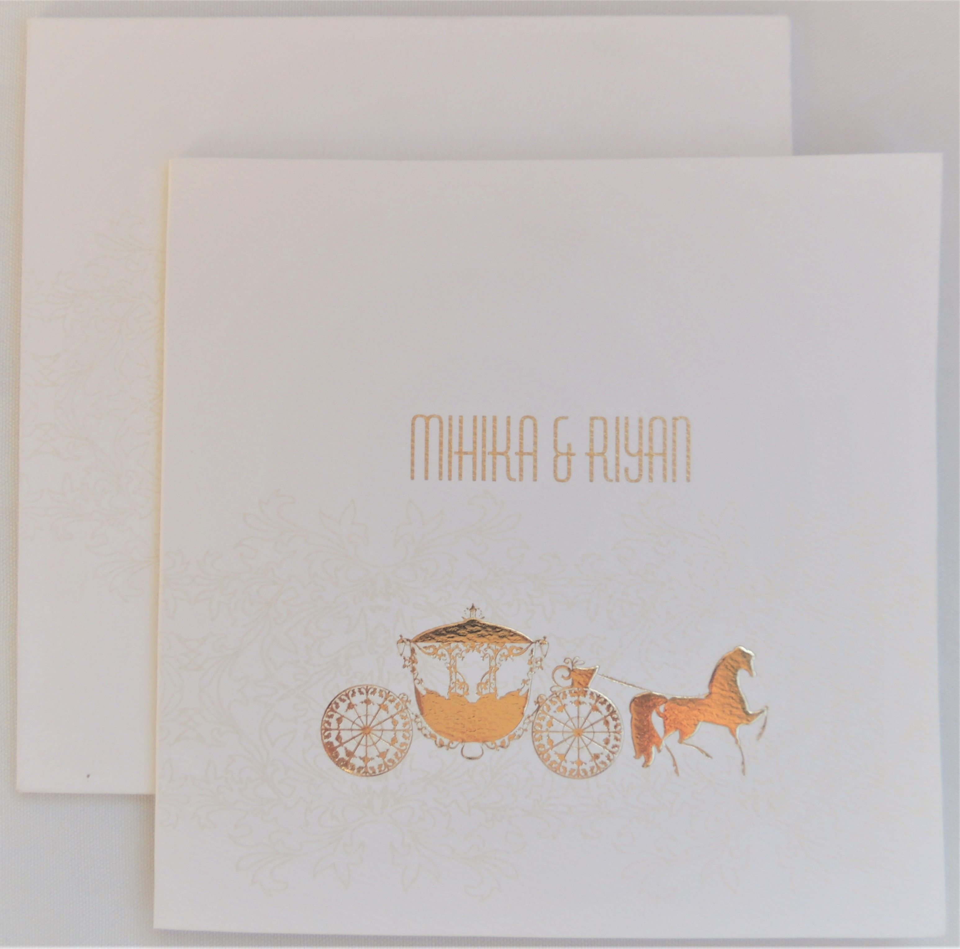 Elegant wedding invitation card with superior quality at a very low ...