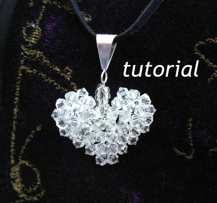 Instant download tutorial jewelry tutorials by jewelryonpicadilly jewelry tutorials pendant how to make a crystal puffy heart beaded pendant aloadofball Gallery