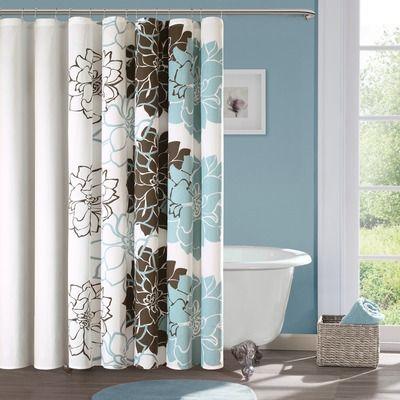 Madison Park Lola Shower Curtain Wayfair Brown Bathroom Decor