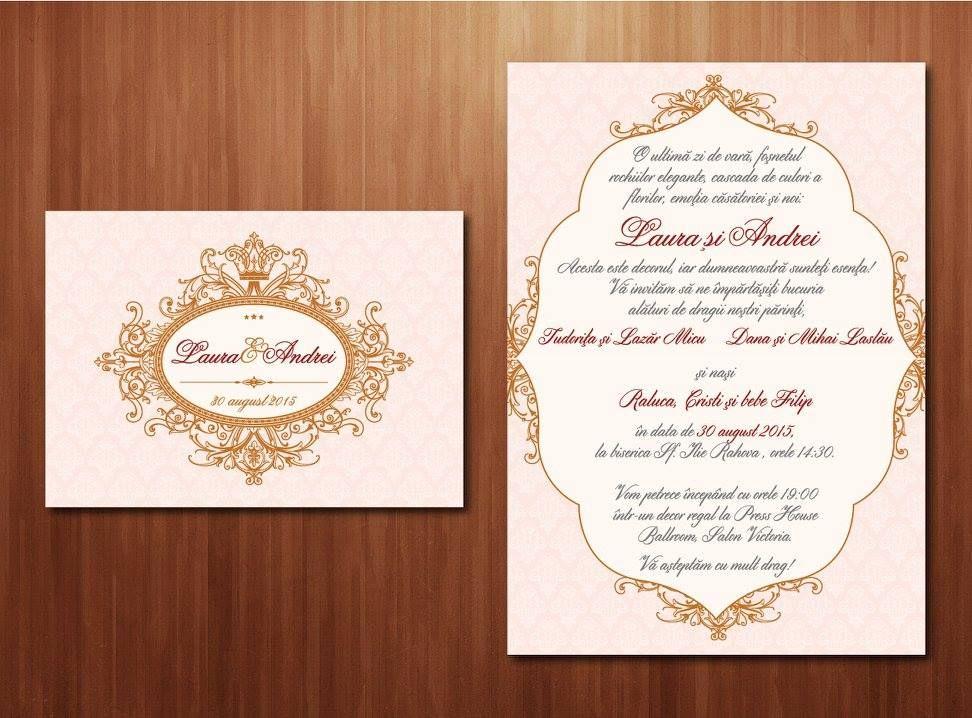 Wedding invitations ideas\/Idei invitatii de nunta originale - format for invitation