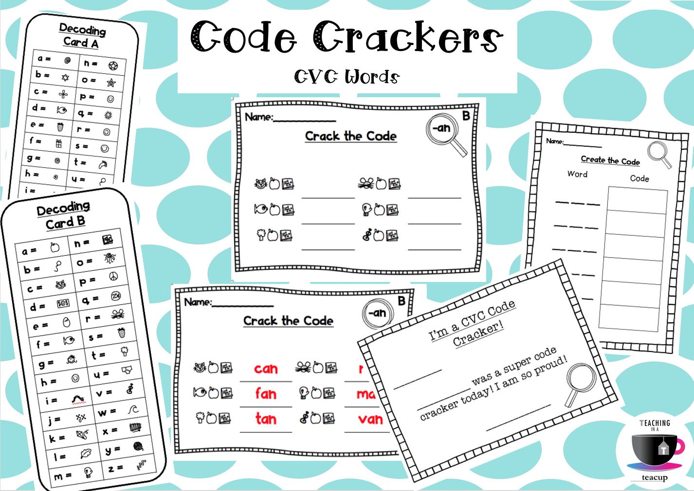 Code Crackers Cvc Words