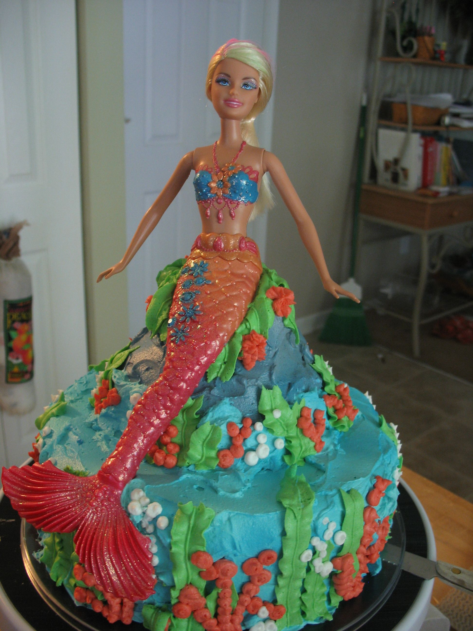 publix barbie mermaid cake