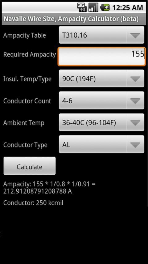 Electrical Calculator- screenshot | automation | Pinterest ...