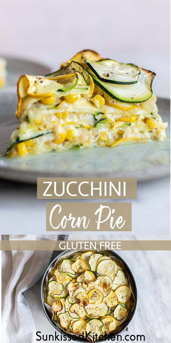 Sweet Corn Zucchini Pie #vegetariandish