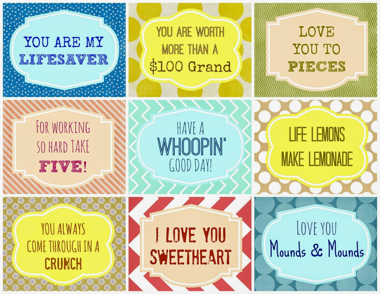Candy Grams {Free Printable} | Candy grams, Free printable ...