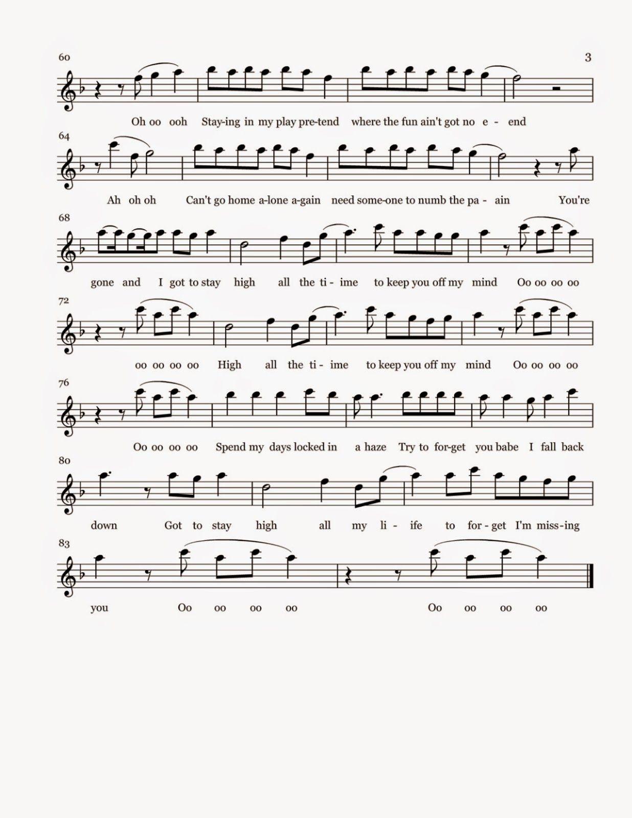 Flute sheet music habits stay high sheet music flute music sheet music hexwebz Images