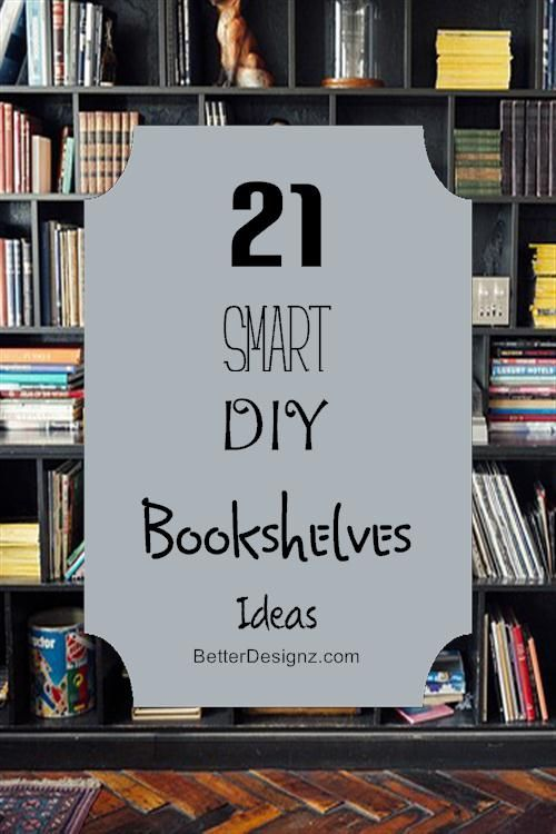 Homemade Bookshelf Ideas 21 smart diy bookshelves ideas | home sweet home | pinterest