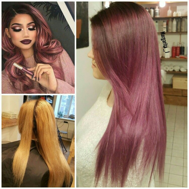 Purple violet balayage ombre Balayage ombre long hair #balayage #color #style #hairstyle #haircut #ombre #mj #kevinmurphy #color.me #purple #violet #dusty #silver #lavender #before #after