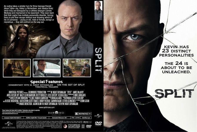 Split (2017) DVD Custom Cover | Dvd cover design, Dvd