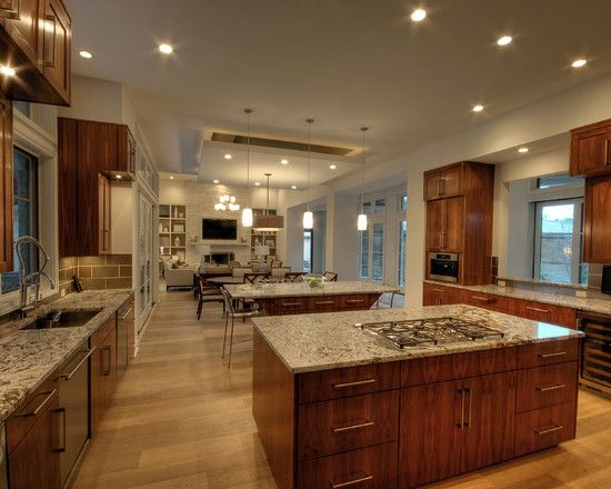 love the flow from kitchen all the way to the den one large room rh pinterest ca